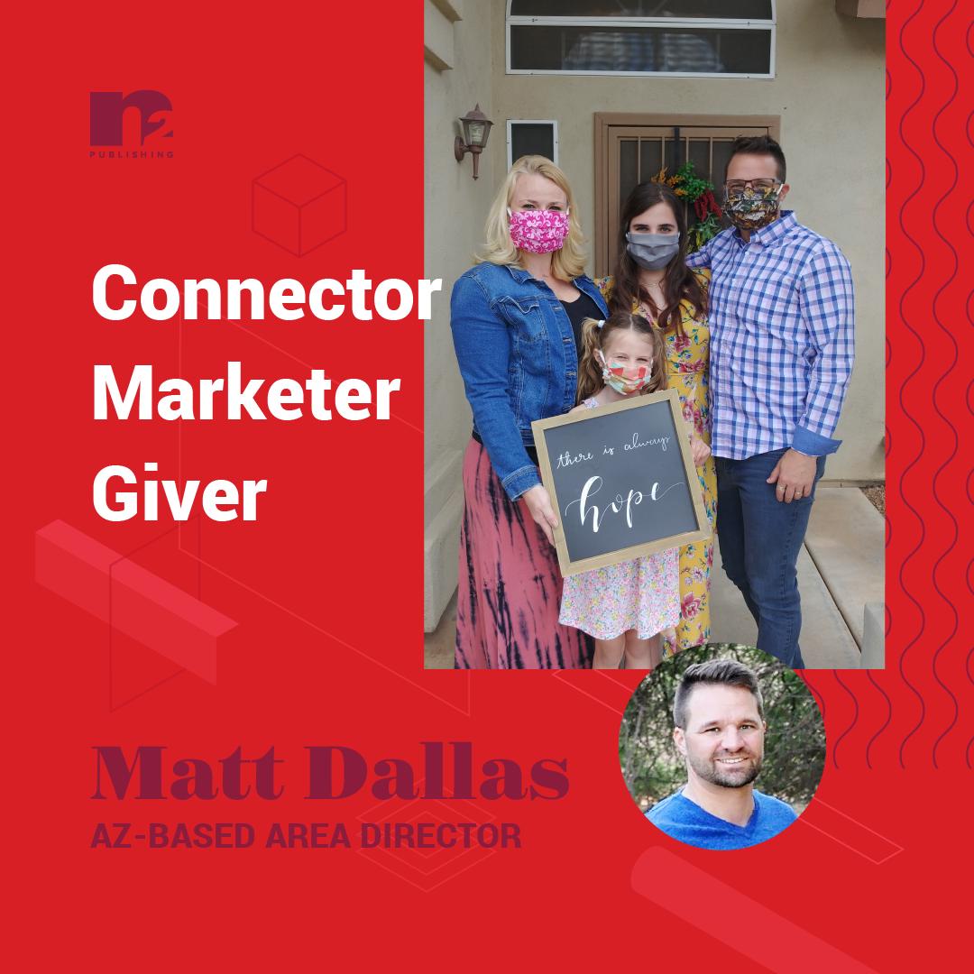 Matt Dallas and family (in masks)