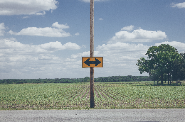 A sign in the road: which way will you go?